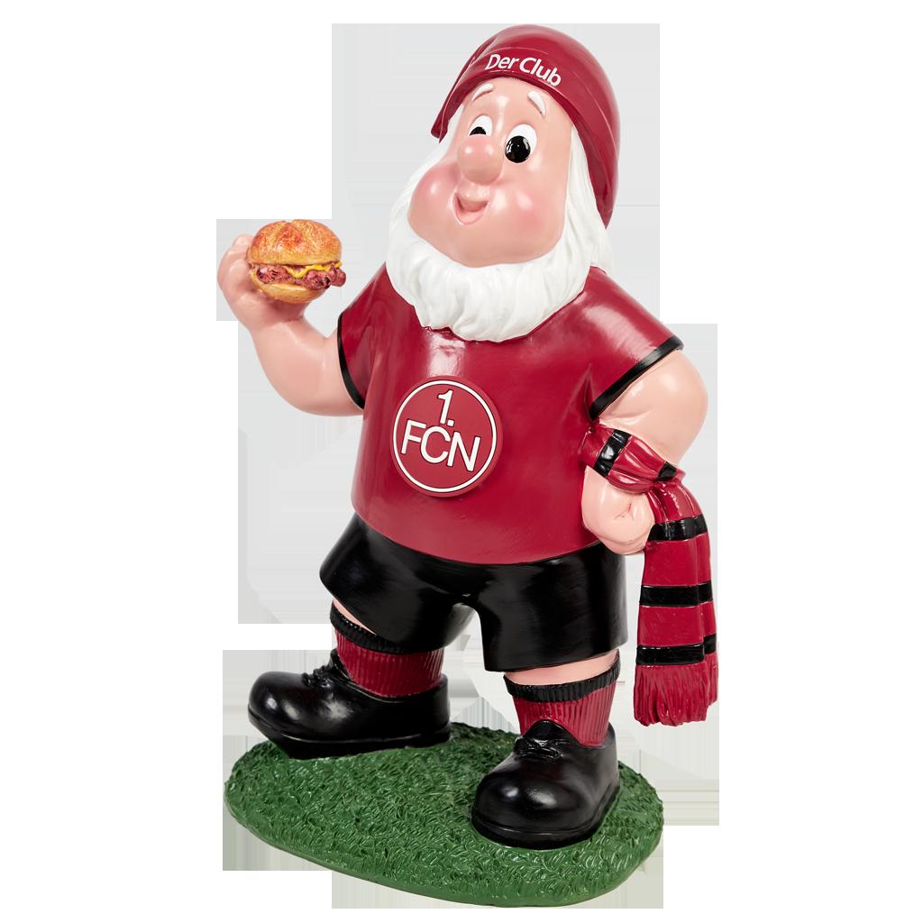 FC Nürnberg 1 Gartenzwerg mit Schal
