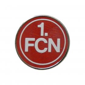 Pin Logo weiß-rot