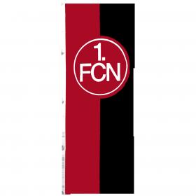 Hissfahne, rot-schwarz, mit Hohlsaum, 150x400 cm