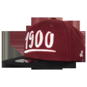 Cap Snapback 1900 weinrot