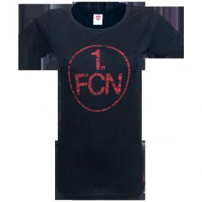 Lady-Shirt Logo used schwarz